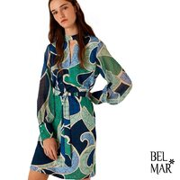 ✨Fantasy pattern✨   Check out the BARBIAN @marella_official dress in our online store!!   #marella #summer #springsummer2021 #dress #fashion #lookoftheday #fantasy #abstractpatterns #blues #greens #fashionista #luxuryfashion #belmarfashion
